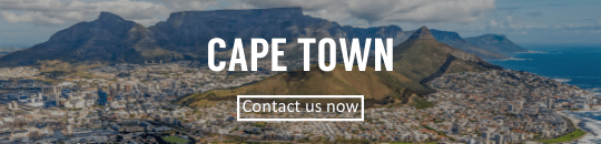 Cape Town skyline with contact button