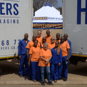 A HouseHoppers moving crew